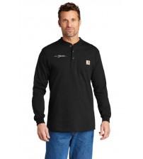 Carhartt® Long Sleeve Henley T-Shirt - Black